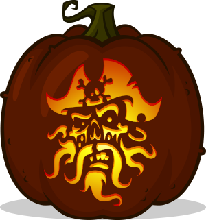 Ghost Pirate pumpkin pattern