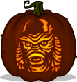 Creature from the Black Lagoon pumpkin pattern