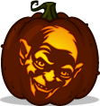 Gollum pumpkin pattern - Lord of the Rings