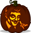 Gomez Addams pumpkin pattern - The Addams Family