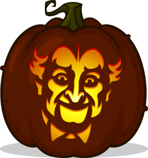 Grandpa Munster pumpkin pattern