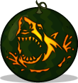Great White pumpkin pattern