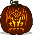 Stone Grotesque pumpkin pattern