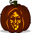 Silver Shamrock Witch Mask pumpkin pattern
