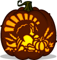 Harvest Turkey pumpkin pattern