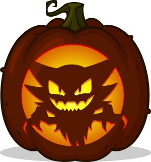 Haunter pumpkin pattern - Pokémon