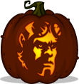 Hellboy pumpkin pattern