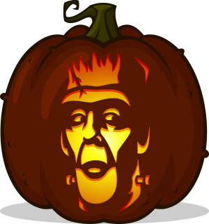 Herman Munster pumpkin pattern