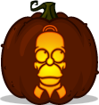 Homer Simpson pumpkin pattern