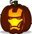 Iron Man pumpkin pattern