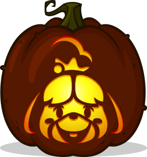 Isabelle pumpkin pattern - Animal Crossing