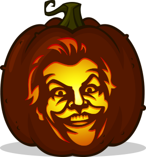 Nicholson Joker pumpkin pattern - Batman (1989)