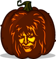 Jareth the Goblin King pumpkin pattern