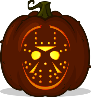 Jason Voorhees pumpkin pattern - Friday the 13th