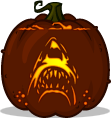 Jaws pumpkin pattern