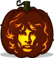 Jim Morrison pumpkin pattern