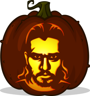 Jon Snow pumpkin pattern