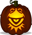Kermit the Frog pumpkin pattern