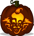 Killer Klown pumpkin pattern