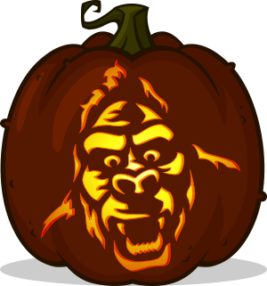 King Kong pumpkin pattern