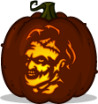 Leatherface pumpkin pattern