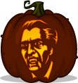 Christopher Lee Dracula pumpkin pattern