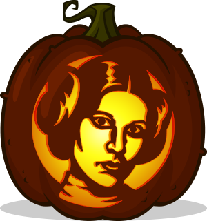 Princess Leia pumpkin pattern