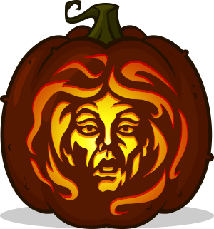 Madame Leota pumpkin pattern
