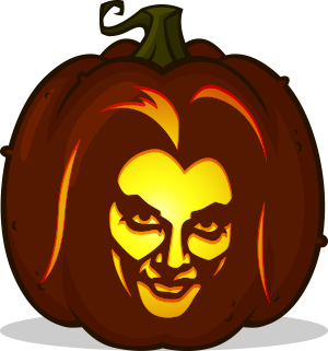Lily Munster pumpkin pattern