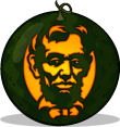 Abraham Lincoln pumpkin pattern