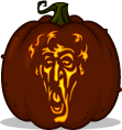 Long Face Ash pumpkin pattern
