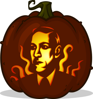 H.P. Lovecraft pumpkin pattern