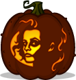 Mrs. Lovett pumpkin pattern
