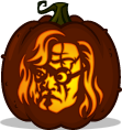 Mad-Eye Moody pumpkin pattern