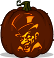 Mad Hatter pumpkin pattern