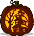 Haunted Manor pumpkin pattern