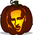 Marilyn Manson pumpkin pattern