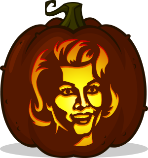 Marilyn Munster pumpkin pattern
