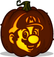 Mario pumpkin pattern - Super Mario Bros.