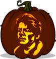 Marty McFly pumpkin pattern