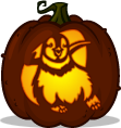 Mumble pumpkin pattern