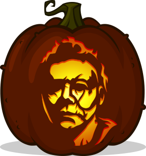 Michael Myers 2018 pumpkin pattern