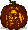 Native American pumpkin pattern - Thanksgiving