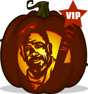 Negan pumpkin pattern