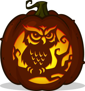 Night Owl pumpkin pattern
