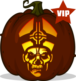 Papa Emeritus pumpkin pattern
