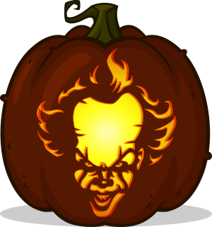 Pennywise pumpkin pattern