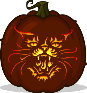 Pet Sematary pumpkin pattern