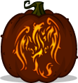 Phoenix Rebirth pumpkin pattern