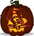 Pirate Galleon pumpkin pattern